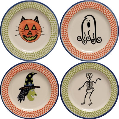 love these m bagwell halloween plates the colors are so much more fun that - Halloween Plates Ceramic