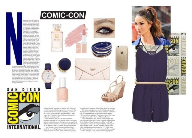 Comic-Con Outfits by mayc-roldan on Polyvore featuring New Look, Seychelles, GUESS, Marco Bicego, Kate Spade, Rifle Paper Co, Ann Taylor, Jane Iredale, Rimmel and Tory Burch