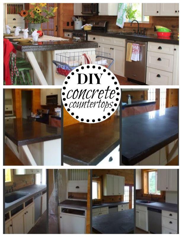 Concrete Counter Tops on a Budget Countertops Concrete