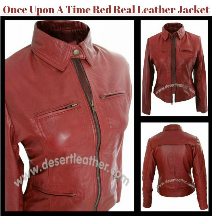 Red hot Once Upon A Time Jacket worn by Jennifer Morrison at our online store desertleather!!  #OnceUponATime #Tvseries #JenniferMorrison #EmmaSwan #Movie #WinterSale #WinterShopping #Celebrity #Fashion #Cosplay #geektyrant #geek #sale #Shopping #WinterCostume #Onlineclothingstore #Womensfashion #womenoutfit