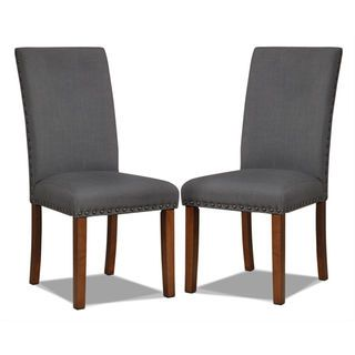 [Mindy Side Chairs, Set of 2 – Charcoal]