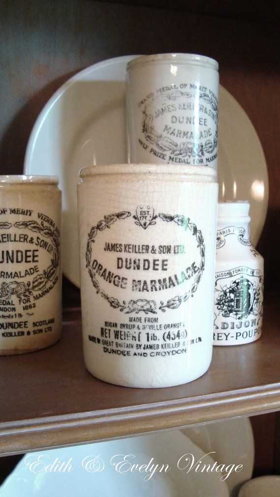 dating dundee marmalade jars Vintage crock, made of pottery, stands 475 inches tall, round base, reads james keiller & sons dundee marmalade stamped in black, in good condition w.