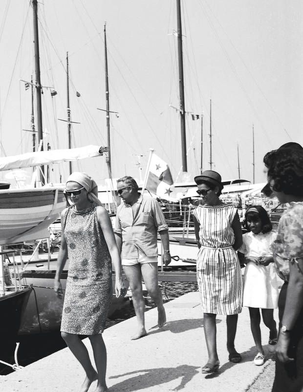 Princess Grace on the town docks, Costa Smeralda -- Photograph Courtesy of Nello di Salvo Archive