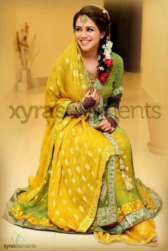 Pakistani mehndi bride                                                                                                                                                                                 More