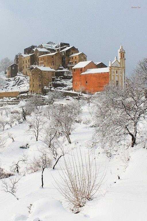La neige en Corse France janvier 2013 / France d'art et de lumière
