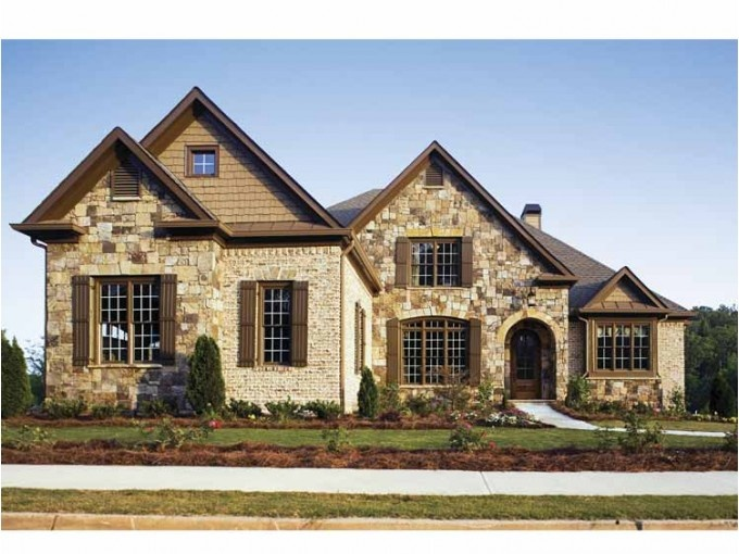 16 best front elevation images on pinterest facades for Brick and stone elevations