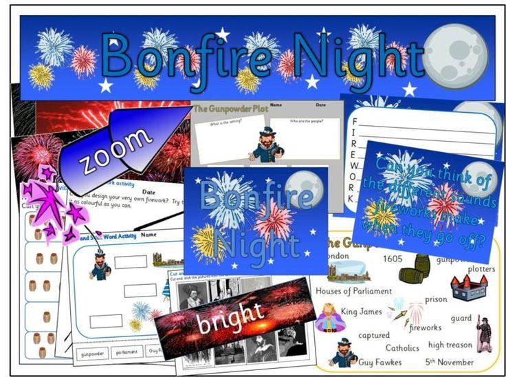 BONFIRE NIGHT GUY FAWKES TEACHING RESOURCES KS1 EYFS