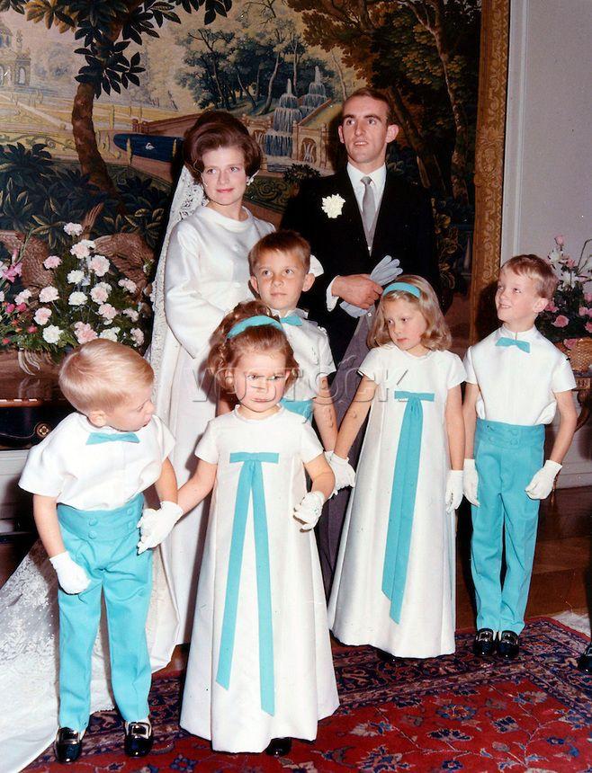 Le mariage de la Princesse Anne de Merode avec le Comte Antoine Martin de Boulancy d'Escayrac-Lauture le 16 septembre 1967