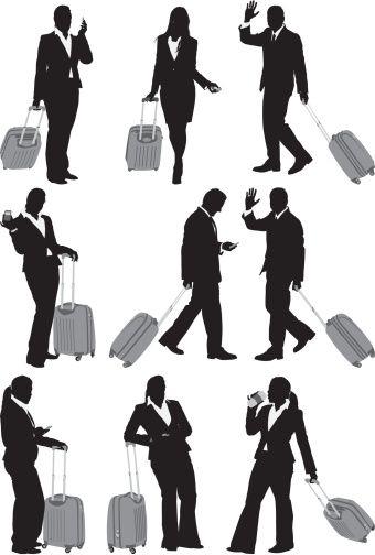 Vectores libres de derechos: Business travel