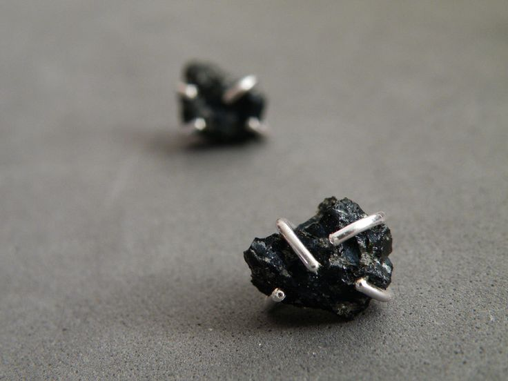 Raw Snowflake Obsidian Earrings Sterling silver Studs Raw Gemstone Jewelry by SteamyLab by SteamyLab on Etsy https://www.etsy.com/listing/225914390/raw-snowflake-obsidian-earrings-sterling