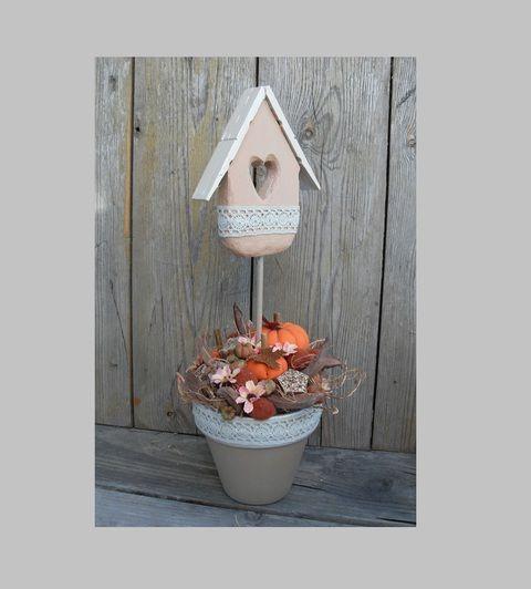 Tökvirág -őszi asztaldísz, Dekoráció, Otthon, lakberendezés, Meska