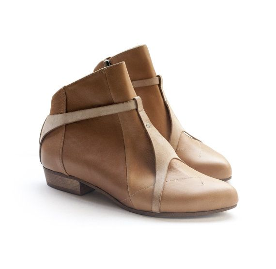 Sale 45% off! Women's shoes, Camel boots. Brown boots by Liebling. Women boots, handmade leather shoes. Jaimmy model.
