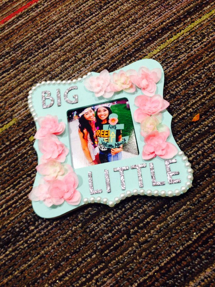 Painted and crafted picture frame for my little.