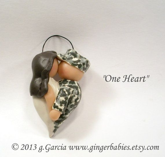 Military Ornament One Heart by gingerbabies on Etsy