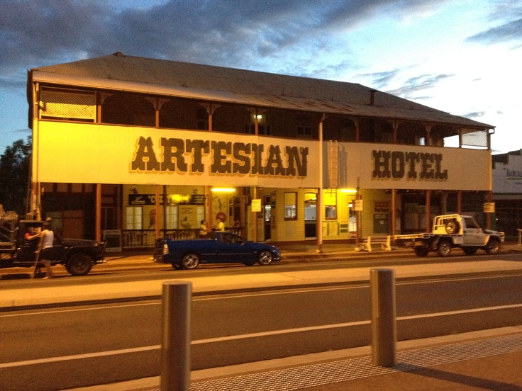 Artesian Hotel, main street of Barcaldine, Outback Queensland