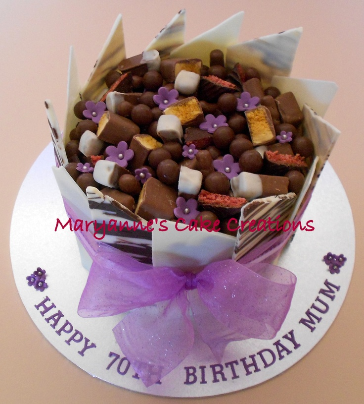 Chocolate Panel Cake - Milk Chocolate - Birthday Cake