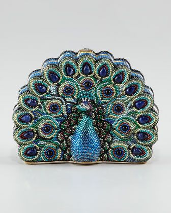 Peacock Clutch by Judith Leiber at Neiman Marcus.