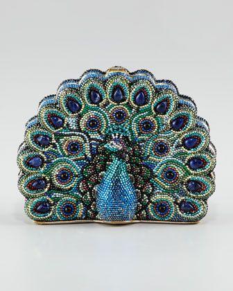 Judith Leiber Peacock Clutch