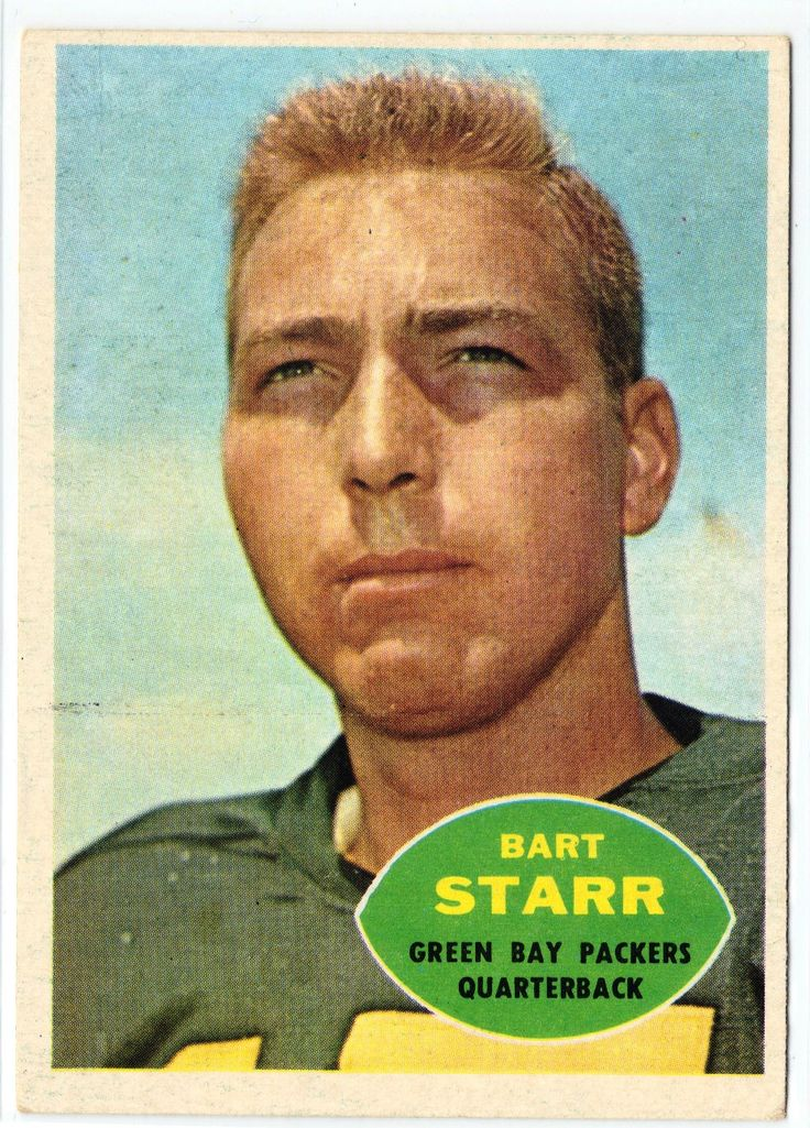 ORIGINAL 1960 Topps #51 Bart Starr, QB Green Bay Packers Condition EX/EX+ A classic piece of history here! Your collection is not complete until it has a card like this! This makes a great gift for yo