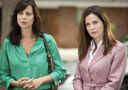 """Things happen and things change,"" Catherine Bell reasons of Kim Delaney's absence from Season 7 of Lifetime's ""Army Wives,"" which starts Sunday, March 10. ""It's just part of our industry."""