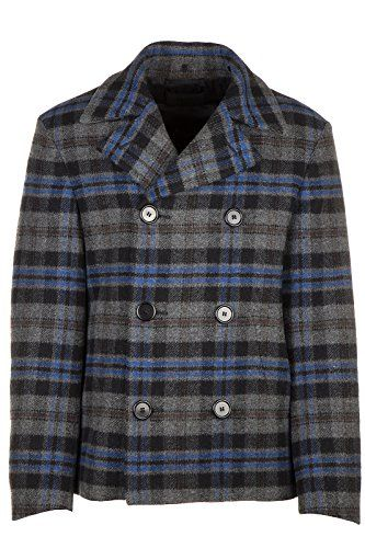 PRADA Prada men's double breasted coat overcoat picot grey. #prada #cloth #
