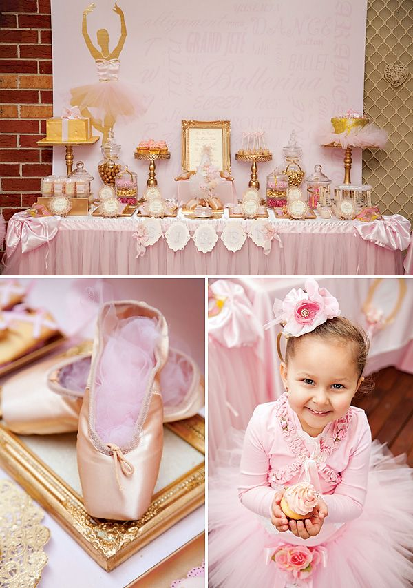 Pink Gold Ballerina Party {4th Birthday} // Hostess with the Mostess Blog