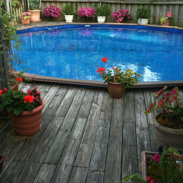 Above Ground Pool Landscaping Ideas Pictures: 1000+ Images About Above Ground Pools On Pinterest