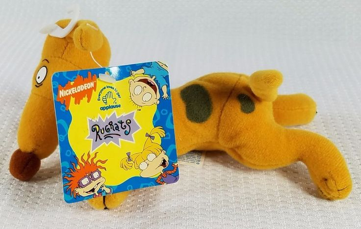 "1997 rugrats spike bean bag plush 7"" new nwt 90s from $11.69"