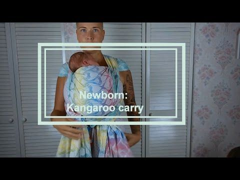 Babywearing basics (newborn) - kangaroo carry - Wrap You in Love on YouTube
