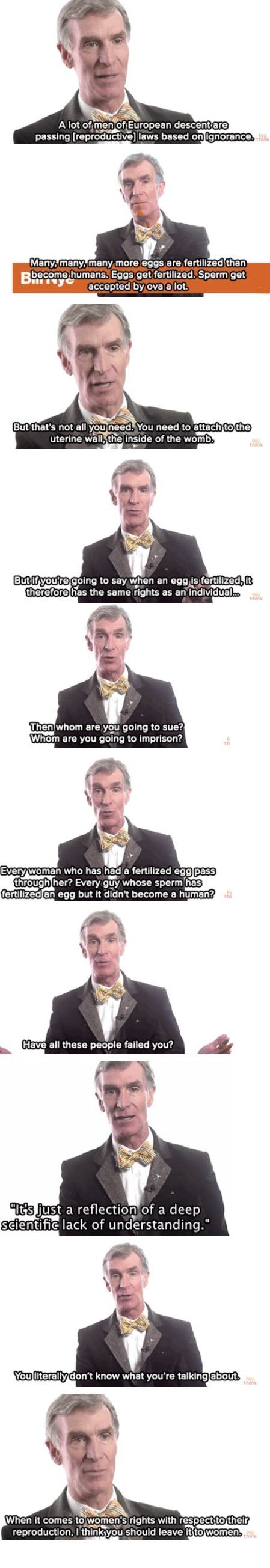 Right on, Bill Nye!