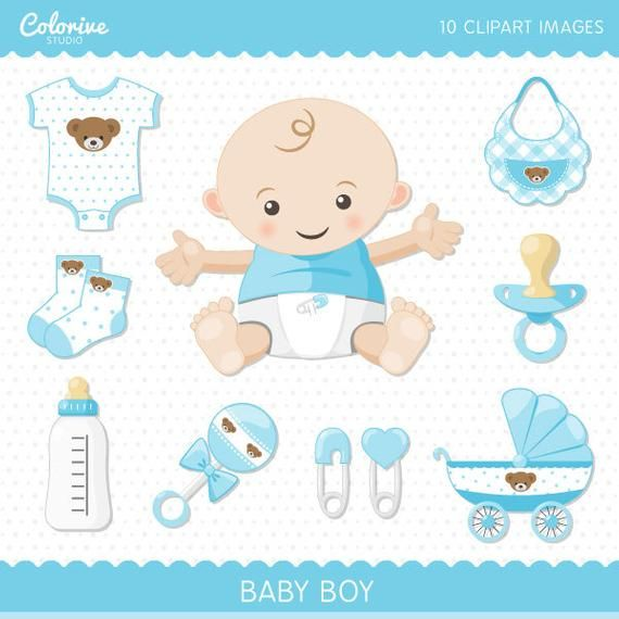 Baby Boy Clipart Pack Cute Baby Png Illustration Clip Art Etsy In 2021 Baby Scrapbook Baby Clip Art Clip Art