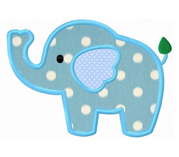 Elephant applique machine embroidery design by WendysStitch, $1.39