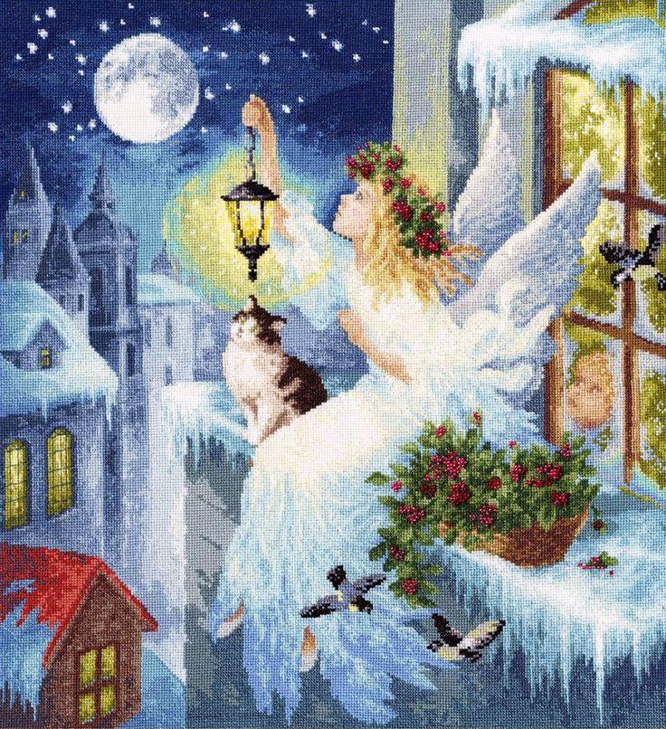 Вышивка Зимняя фея