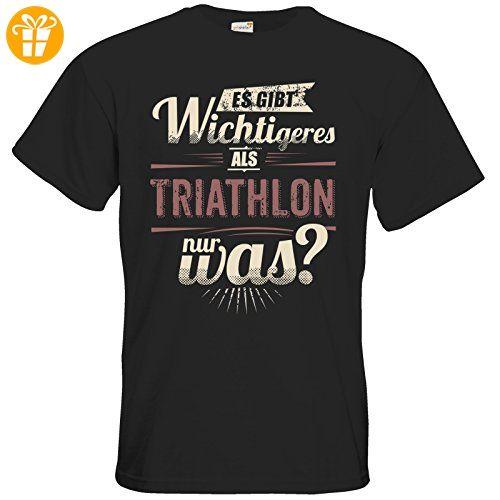 getshirts - RAHMENLOS® Geschenke - T-Shirt - Es gibt wichtigeres als Triathlon - Sport red - black L - T-Shirts mit Spruch   Lustige und coole T-Shirts   Funny T-Shirts (*Partner-Link)