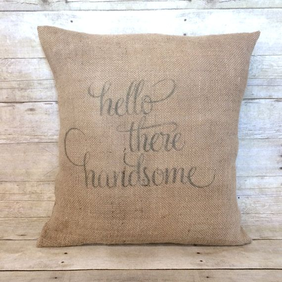 Hello There Handsome Throw Pillow Cover