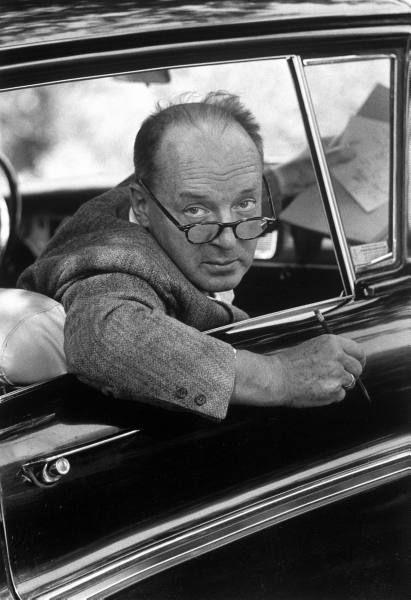 Vladimir Nabokov in Ithaca, NY 1958. Photograph: Carl Mydans.