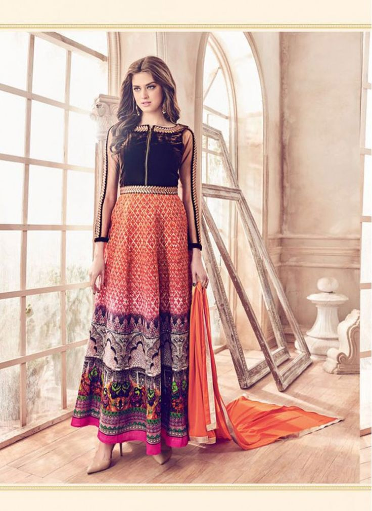 Multi Colour Sentoon Embroidered Ankle Length Designer Anarkali Suit