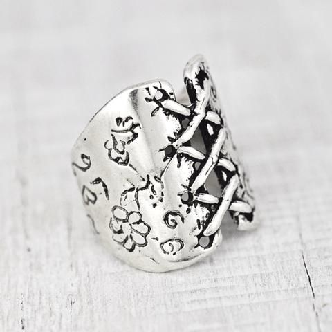 Handmade Corset Ring   #ring #jewelry  #cowgirljewelry   http://www.islandcowgirl.com/