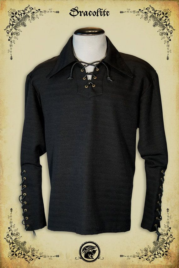 Le baron medieval shirt clothing for men LARP costume by Dracolite