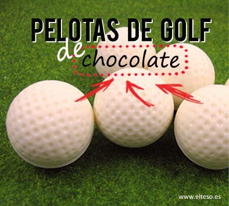 PELOTAS DE GOLF DE CHOCOLATE BELGA #FigurasDeChocolate #ChocolatesOnline #ChocolatesGourmet