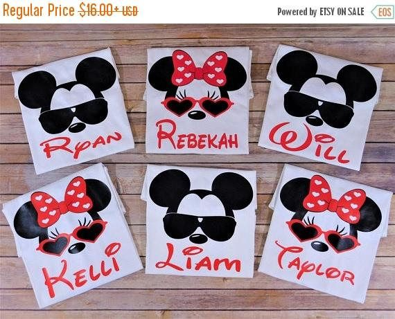 Familia Disney camisetas camisetas personalizadas Disney