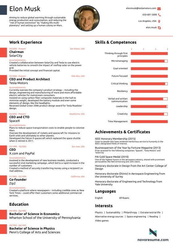 This Résumé for Elon Musk Proves You Never, Ever Need to Use More Than One Page | Money