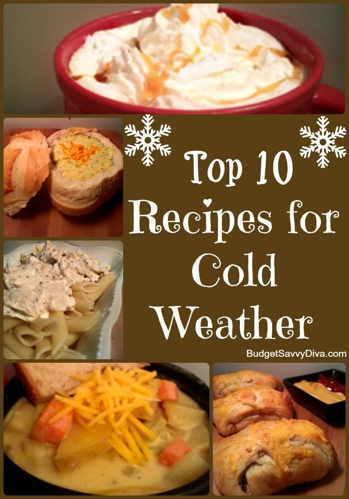 With the weather getting colder these recipes are for Cold weather meals recipes