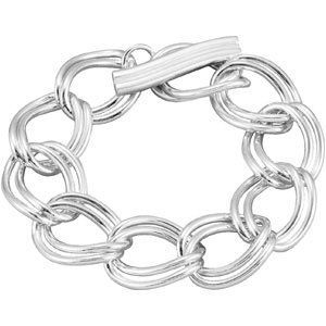 Sterling Silver Link Bracelet With Toggle Clasp 8 Inch - JewelryWeb JewelryWeb. $407.50. Save 50%!