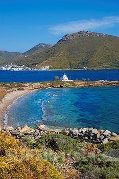 Agios Panteleimon beach and church, Amorgos