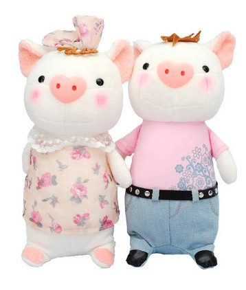 Small Pig Doll a Pair of Plush Toys Thanksgiving Gift