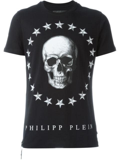 PHILIPP PLEIN Skull Print T-Shirt. #philippplein #cloth #t-shirt