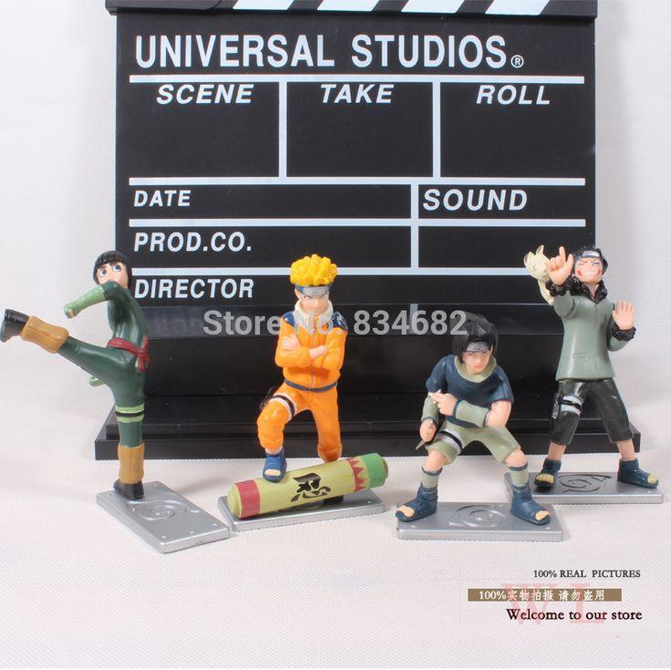 J.g чен аниме наруто узумаки наруто саске рок ли Inuzuka киба пвх фигурку коллекционная модель игрушки куклы 4 шт./компл.