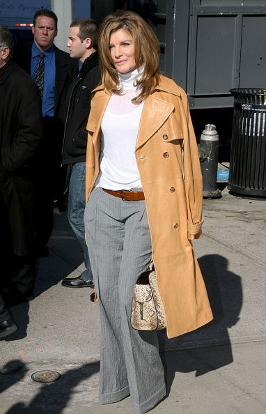 Rene Russo is seen during Mercedes Benz Fashion Week on February 16 2011 in New York City