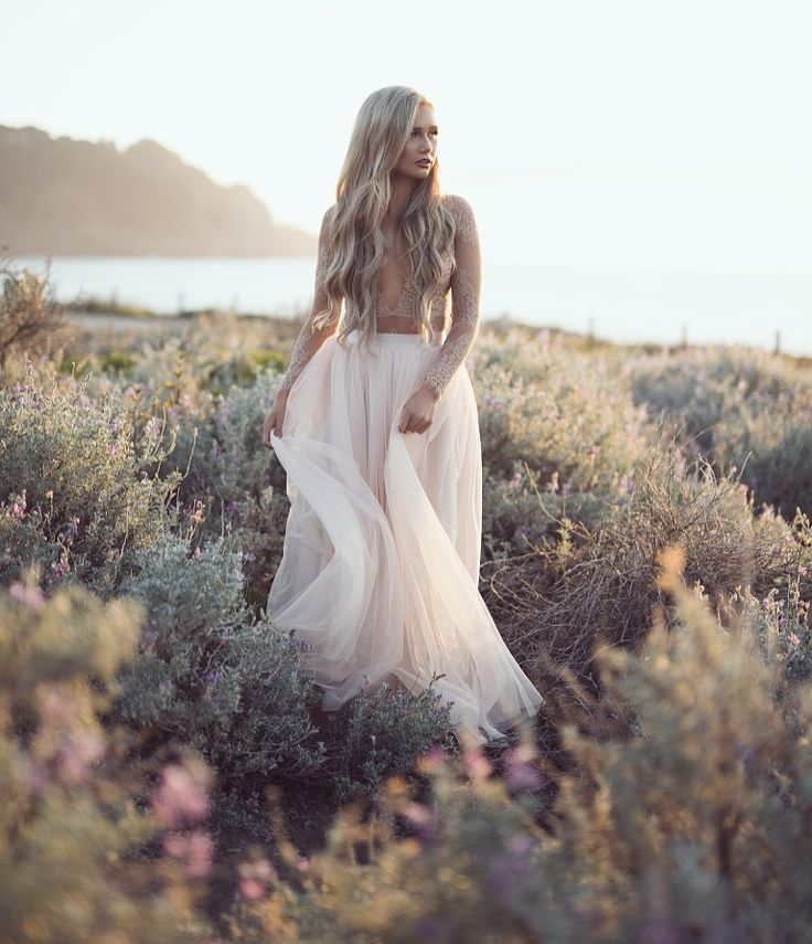 Gorgeous locks, barely there lace and a maxi tulle skirt.. Dreamy Maxi tulle skirt by Bliss Tulle